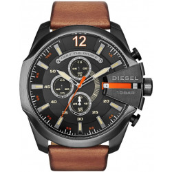 Mega Chief Chrono Cuir Marron Homme