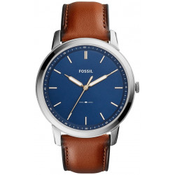 The Minimalist Bleu & Cuir Marron Homme