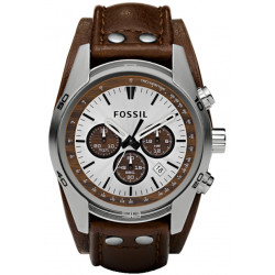 Coachman Chrono Cuir Marron Homme