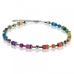 Collier Acier & Cristal Swarovski Multicolore