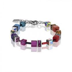 Bracelet Acier Argenté & Cristal Swarovski Multicolore