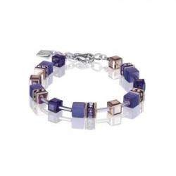 Bracelet Acier Argenté & Cristal Swarovski Violet