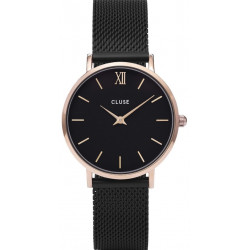 Minuit Mesh Rose Gold Black/Black CL30064