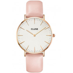 La Bohème Leather Rose Gold White/Pink CW0101201012