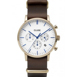 Aravis chrono nato leather gold white/dark brown CW0101502009