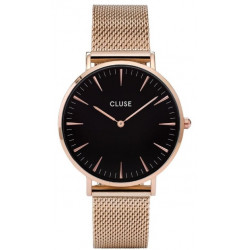 CLUSE La Bohème Mesh Rose Gold Black/Rose gold CW0101201003