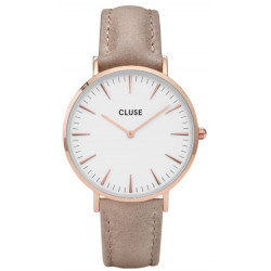 CLUSE La Bohème Leather Rose Gold White/Hazelnut CW0101201015