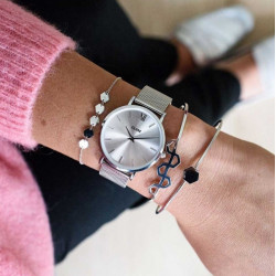 CLUSE Minuit Mesh Silver, Silver/Silver CW0101203011