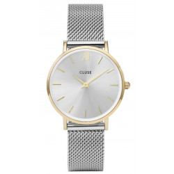 CLUSE Minuit Mesh Gold Silver/Silver CW0101203015