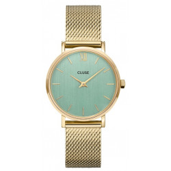 CLUSE Minuit Mesh, Gold, Stone Green CW0101203030