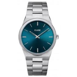 CLUSE Homme Vigoureux Silver, Petrol Blue CW0101503003