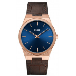 CLUSE Homme Vigoureux Leather, Rose Gold, Dark Brown Croco CW0101503002