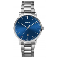 CLUSE Homme Aravis Steel, Silver, Dark Blue CW0101501011