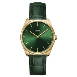 CLUSE Femme Féroce Leather, Gold, Forest Green Croco CW0101212006
