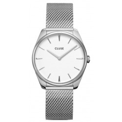 CLUSE Femme Féroce Mesh, Silver, White CW0101212001