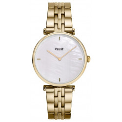 CLUSE Femme Triomphe Steel, Gold, White Pearl CW0101208014
