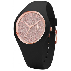 ICE-WATCH Femme Ice Glitter Black/Rose Gold 001346