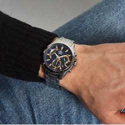 CASIO Montre Homme EFV-580D-2AVUEF Edifice Classic Acier Bleu