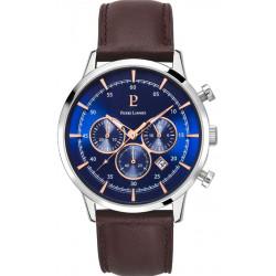 PIERRE LANNIER Montre Homme 224G169 Capital Cuir Marron & Bleu
