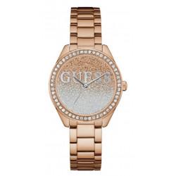 GUESS Montre Femme W0987L3 Glitter Girl Acier Doré Rose
