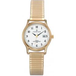 CERTUS Montre Femme 630714 Bracelet Extensible Doré & Blanc