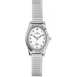 CERTUS Montre Femme 641339 Bracelet Extensible Acier Argenté & Blanc