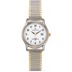 CERTUS Montre Femme 642318 Bracelet Extensible Bicolore & Blanc