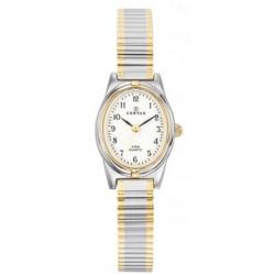 CERTUS Montre Femme 642385 Bracelet Acier Extensible Bicolore & Blanc