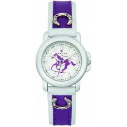 CERTUS JUNIOR Montre Enfant 647482 Cheval Cuir Violet & Blanc