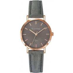GIRL ONLY Montre Femme 699074 Cuir Gris & Doré Rose