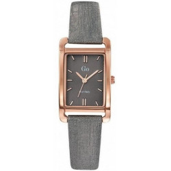 GIRL ONLY Montre Femme 699120 Cuir Gris & Doré Rose