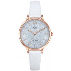 GIRL ONLY Montre Femme 699210 Cuir Blanc & Doré Rose