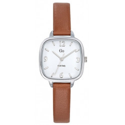 GIRL ONLY Montre Femme 699216 Cuir Marron & Argenté