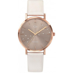 GIRL ONLY Montre Femme 699302 Cuir Blanc & Doré Rose