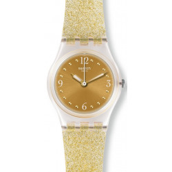 SWATCH Montre Femme LK382 Golden Glistar Too Silicone Doré