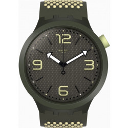 SWATCH Montre Homme SO27M102 BBBlanco Silicone Blanc & Vert