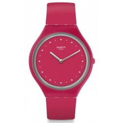 SWATCH Skin Montre Mixte SVOR101 Skinlampone Silicone Rouge