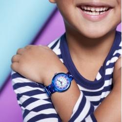 FLIK FLAK Montre Enfant FBNP131 Deep Trip Bleu