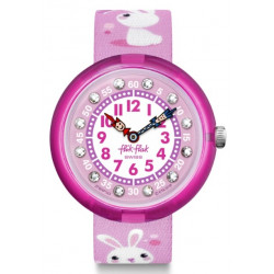 FLIK FLAK Montre Fille FBNP143 So Cute Lapins Rose