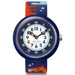 FLIK FLAK Montre Enfant FBNP144 Draggy Bleu & Orange