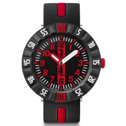 FLIK FLAK Montre Enfant FCSP079 Red Ahead Silicone Noir & Rouge