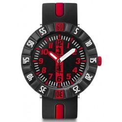 FLIK FLAK Montre Enfant FCSP079 Red Ahead Silicone Noir & Rouge