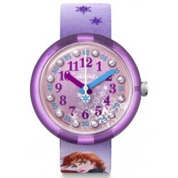 FLIK FLAK Montre Fille FLNP031 Disney Frozen 2 Bleu & Violet