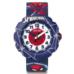 FLIK FLAK Montre Garçon FLSP012 Spiderman In Action Bleu & Rouge