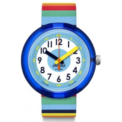 FLIK FLAK Montre Enfant FPNP056 Stripybow Multicolore