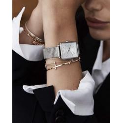 ROSEFIELD Montre Femme QWSS-Q02 The Boxy Acier Argenté & Blanc
