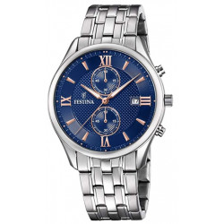 FESTINA Homme Classique Acier & Bleu F6854/6