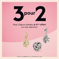 🟣 Nouvelle offre spéciale ! Jusqu'au 14 juillet, profitez de 3 bijoux pour le prix de 2 parmi une sélection de bijoux à découvrir en boutique 🥰 #pandora #bijoux #charms #promo #bracelets #fan #colors #passion